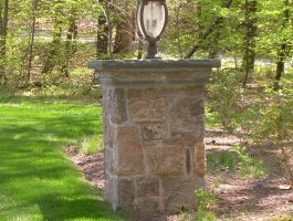 Stone Lamp Column