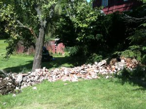 Collapsed chimney