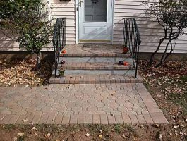 Brick Steps and Walkway