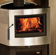 Fusion Metallic Black Wood Stove