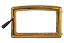 Gold rim for wood stove door