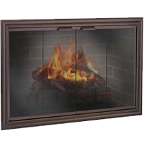 The Phoenix Fireplace Glass Doors