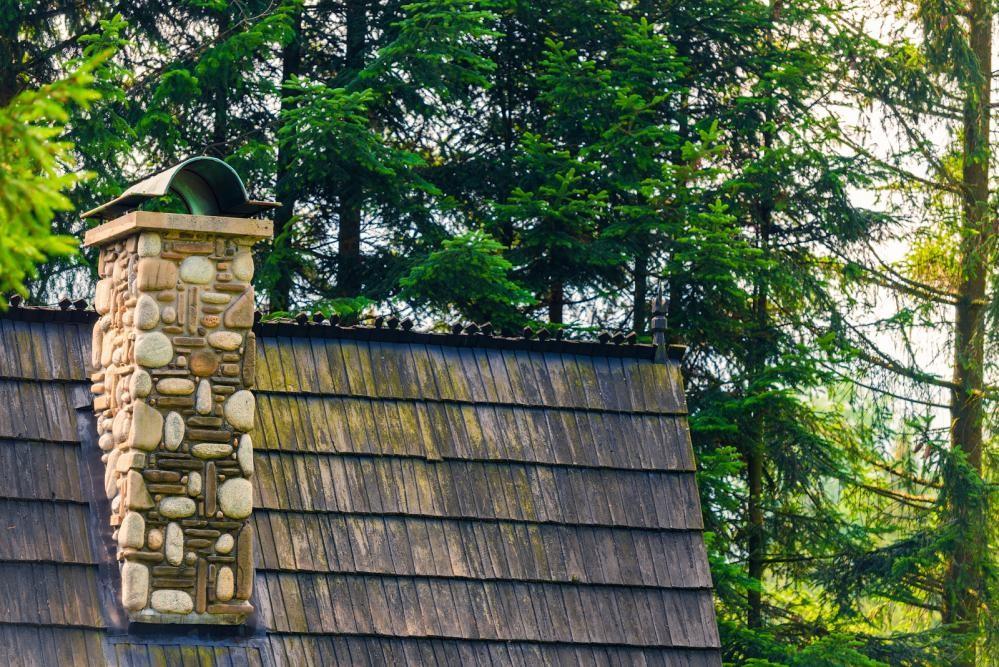 chimneys in summer