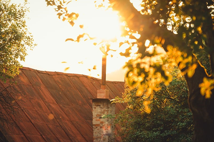 autumn chimney