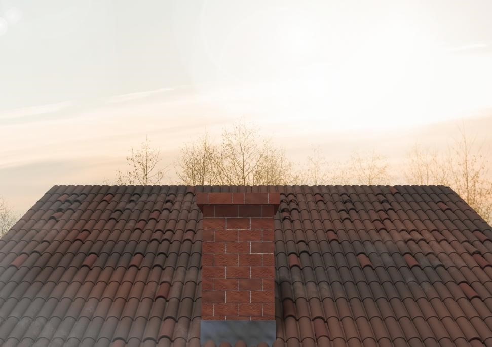 chimney on top of house