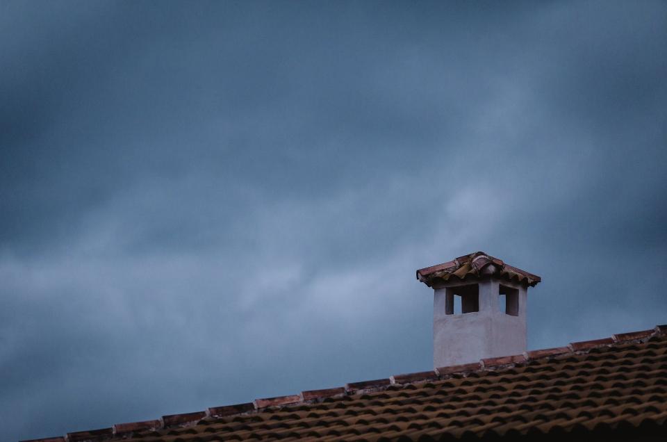 chimney and night sky